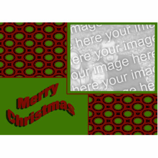Merry Christmas Photo Frame Standing Photo Sculpture