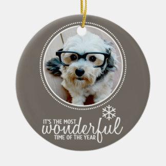 Merry Christmas - Photo Greeting Card Template Christmas Ornament