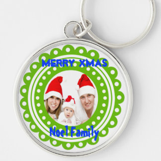 Merry Christmas Photo Keychains-Stocking Stuffer
