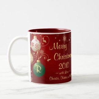 Merry Christmas Photo Mug - Elegant Ornaments