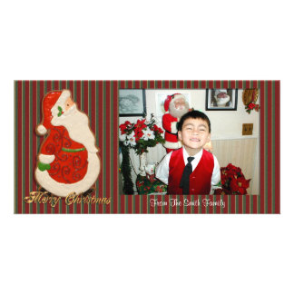 Merry Christmas Photo Santa cookie Photo Cards