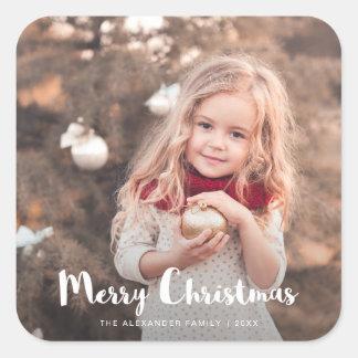 Merry Christmas Photo Typography Sticker