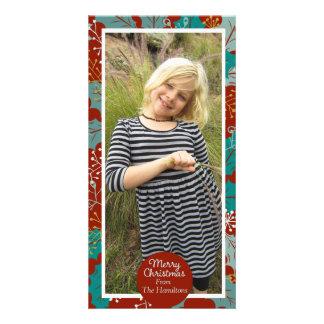 Merry Christmas photocard Customized Photo Card