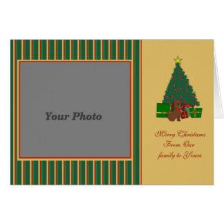 Merry Christmas photocard Greeting Card