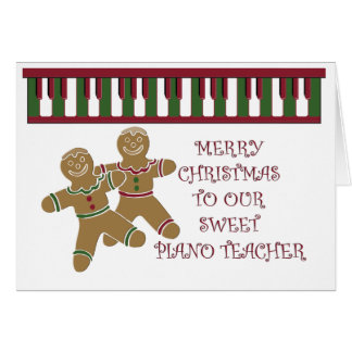 Merry Christmas piano teacher Greeting Card