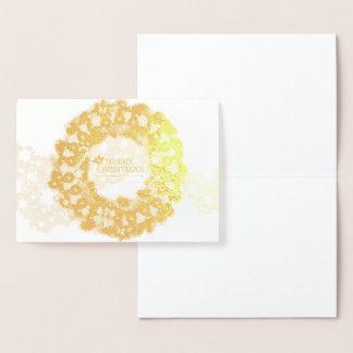Merry Christmas Pickleball 1 Options Foil Card