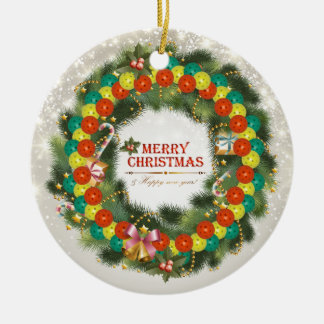 Merry Christmas Pickleball 1 Ornament