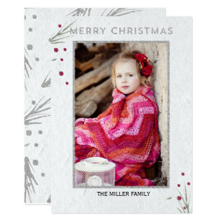 Merry Christmas Pine Branch Card