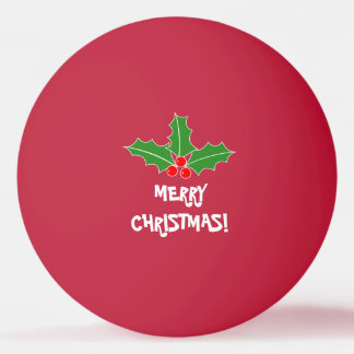 Merry Christmas ping pong balls for table tennis