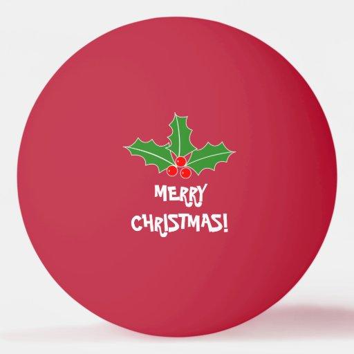 Merry Christmas ping pong balls for table tennis