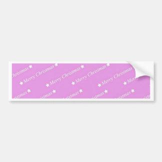 merry christmas pink bumper sticker