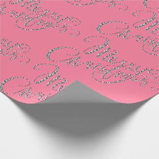 Merry Christmas - Pink Leopard Print Wrapping Paper