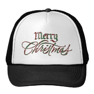 Merry Christmas Plaid Cap