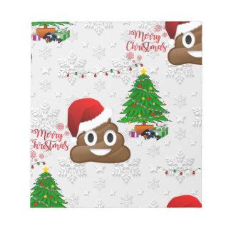 merry christmas poo emoji notepad