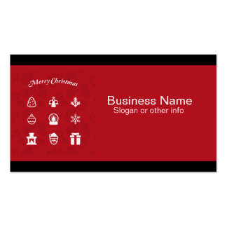 Merry Christmas Popular Icons set Business Card Template
