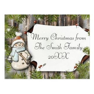 Merry Christmas postcard - customise!