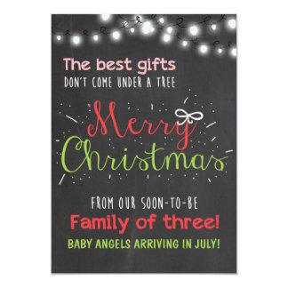 Merry Christmas pregnancy chalkboard announcement