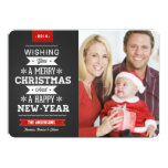Merry Christmas Preppy Chalkboard 2014 Photo Card Personalised Announcements