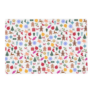Merry Christmas Print Laminated Placemat