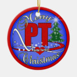 MERRY CHRISTMAS PT ORNAMENT  PHYSICAL THERAPIST