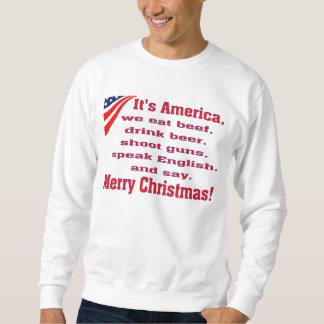 Merry Christmas Pullover Sweatshirt