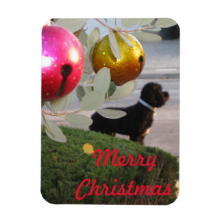 Merry Christmas Pup Magnet