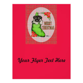 Merry Christmas Puppy 21.5 Cm X 28 Cm Flyer