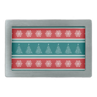 Merry Christmas Rectangular Belt Buckle