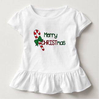 Merry CHRISTmas Red and Green Toddler T-Shirt