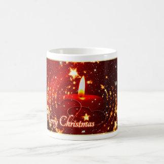 Merry Christmas red candle Coffee Mug
