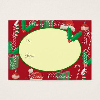 Merry Christmas Red Christmas gift tag