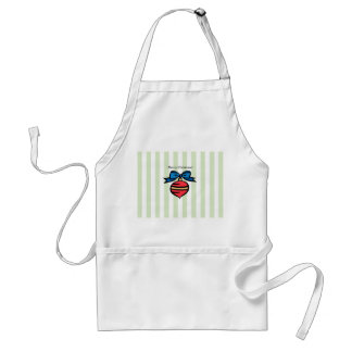 Merry Christmas Red Christmas Ornament Apron Green