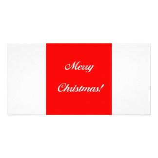 Merry_Christmas_Red Custom Photo Card