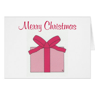 merry christmas red gift note card