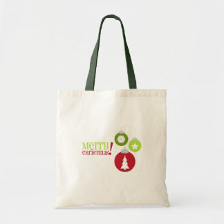 Merry Christmas Red & Green Decorations Budget Tote Bag