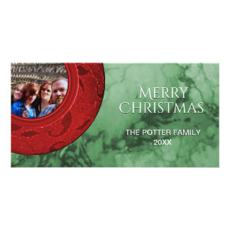 Merry Christmas Red Green Holiday Photo Card
