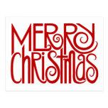 Merry Christmas Red Postcard