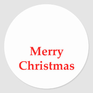 Merry Christmas Red The MUSEUM Zazzle Gifts Round Sticker