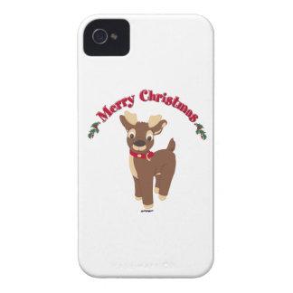 Merry Christmas Reindeer iPhone 4 Covers