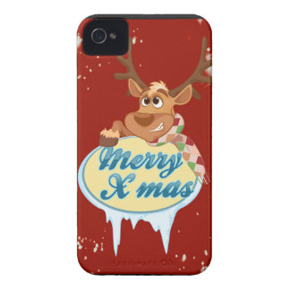 Merry Christmas Reindeer Case-Mate iPhone 4 Cases
