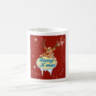 Merry Christmas Reindeer Coffee Mug