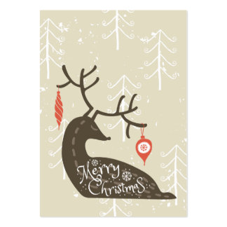 Merry Christmas Reindeer Cozy Pack Of Chubby Business Cards