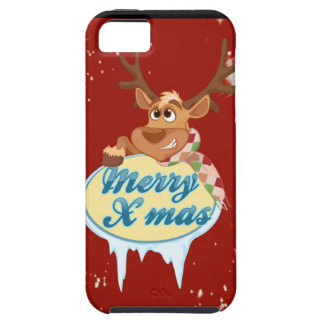 Merry Christmas Reindeer iPhone 5 Cases