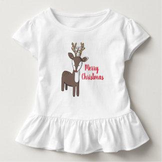 Merry Christmas Reindeer  Ruffle Shirt
