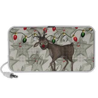 Merry Christmas Reindeer Travel Speakers