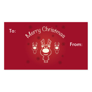 Merry Christmas Reindeers Gift Card Pack Of Standard Business Cards