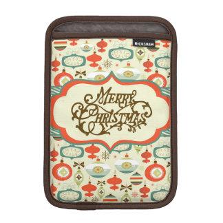 Merry Christmas Retro Ornament Design iPad Mini Sleeves