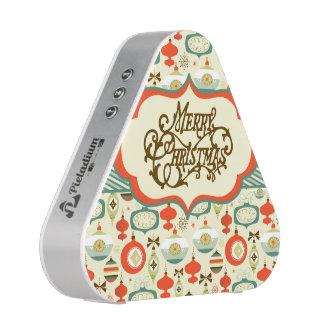 Merry Christmas Retro Ornament Design Speaker