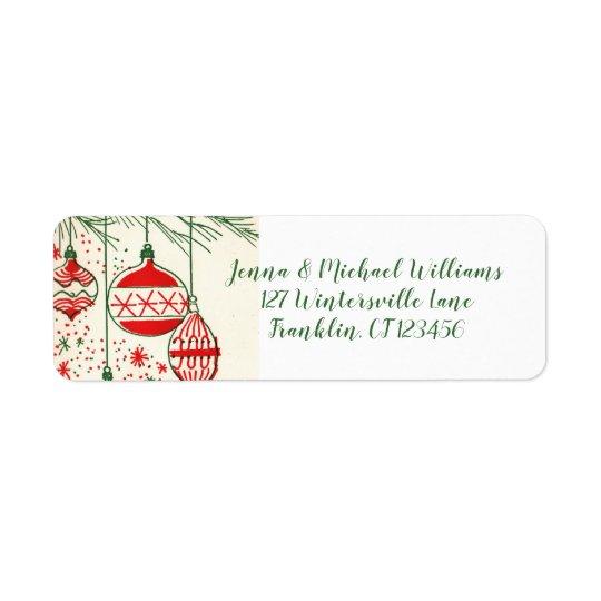 Merry Christmas | Retro Ornaments