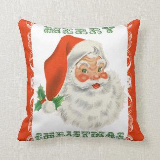 Merry Christmas Retro Santa Claus Pillows